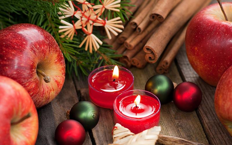 Новый год, свечи, ёлка