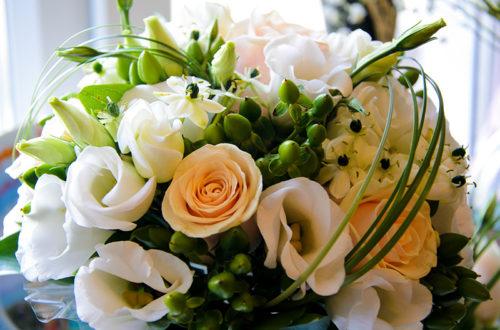 Белые розы, букет, фото