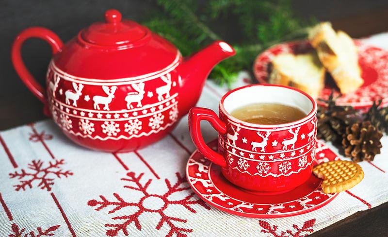 Посуда , чайный сервис в стиле Нового года