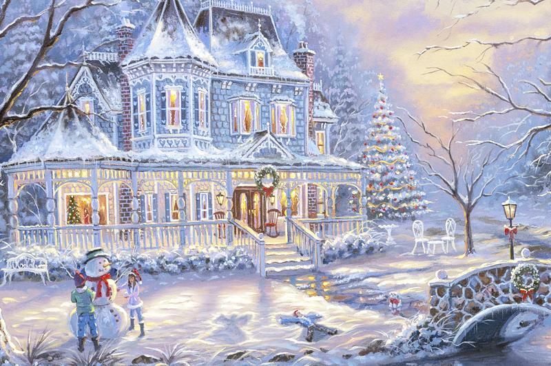 Новый год, рисунок, открытка