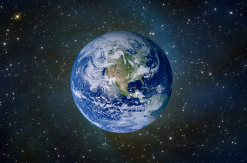 Космическое фото планеты Земля