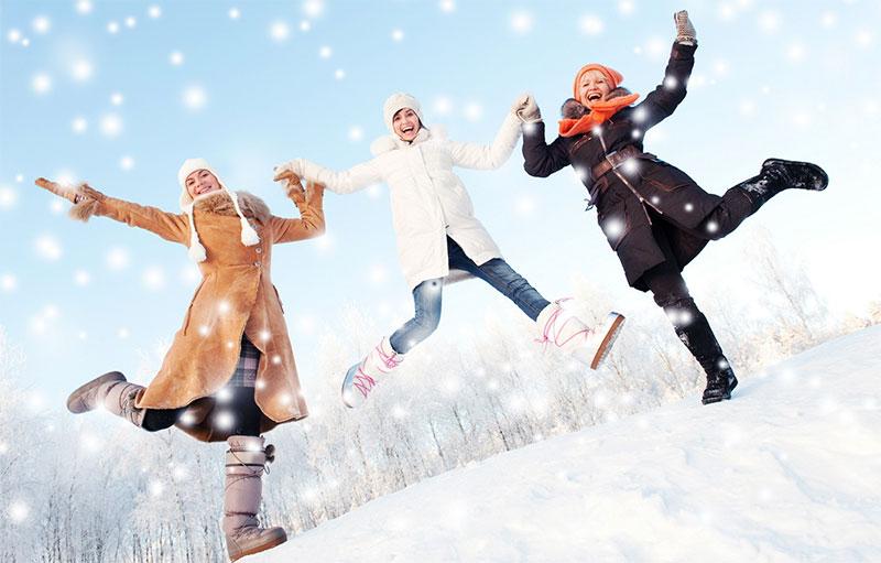 Зима, весёлые студенты, фото