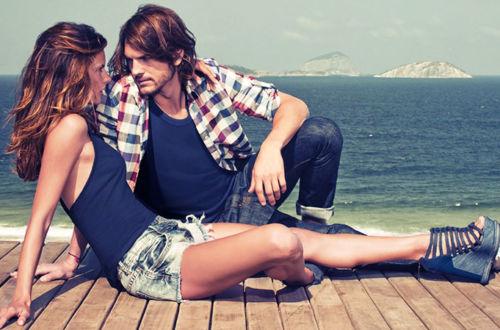 Молодая пара, море, фото.