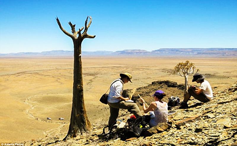 Геологи в пустыне
