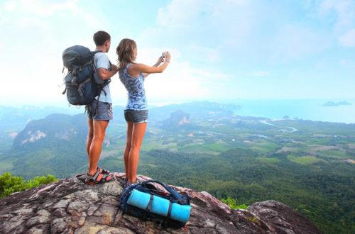 Туристы на горе, фото