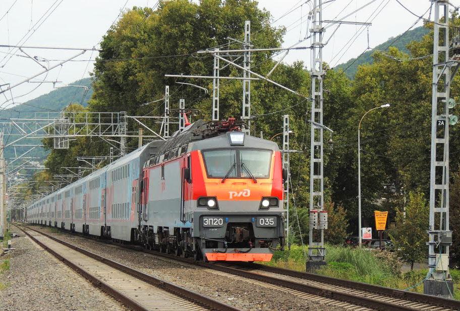 Поезд в пути, лето